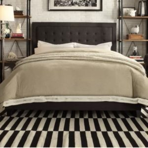Woodside Low Profile Platform Bed Size: King, Color: Dark Gray
