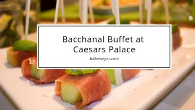 Caesars Palace offers a top-notch buffet in a 25,000 square foot opulent dining room that is serving 500+ delicious dishes daily, with menu items ranging from red-velvet pancakes to croissan'wichs. Yum!