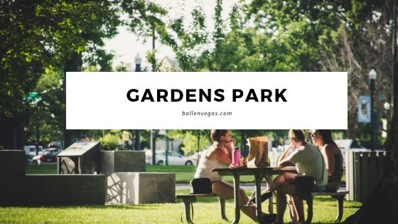 Gardens Park is in Summerlin at 10401 Garden Park Dr, Las Vegas, NV 89135 at Town Center between Desert Inn and Twain. It's in The Gardens Village in Summerlin.
