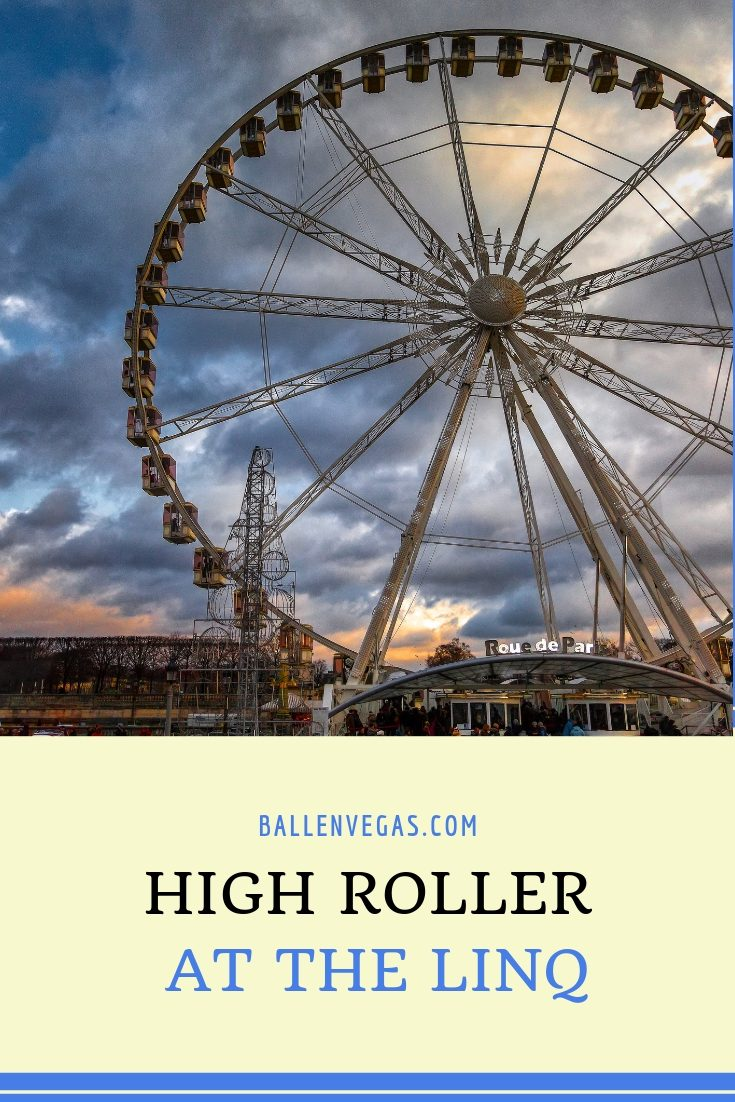 image of a large carousel like the high roller at the link and words say high roller at the linq