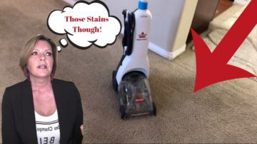 My honest review of the Bissel ReadyClean Full Size Carpet Cleaner is that it's great for the small home or for regular cleaning of high traffic areas. The water tank is pretty small so it's going to be one room at a time for sure. Watch the video for real deal action and results.