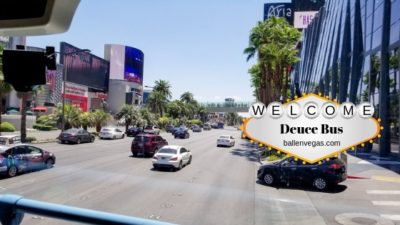 Take a double-decker bus as you tour the Las Vegas Strip, your way. Deuce on the strip runs from Fremont Street to Downtown Las Vegas and to the Mandalay Bay. It stops at most hotels on the path.