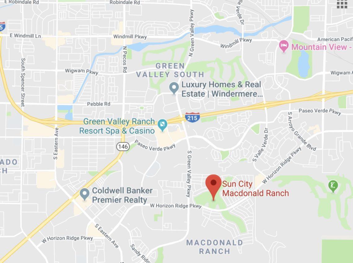 Sun City Macdonald Ranch Map