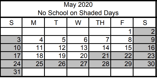 Last day of School for Las Vegas is May 20th Memorial Day May 25th