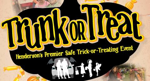 Henderson's premier safe trick-or-treating event returns for an evening of festive fun. Put on your costume and follow the trick-or-treat trail in our parking lot where we pass out treats (or tricks) from the trunks of our festively decorated cars. The event includes a variety of activities, entertainment and a costume contest. A set number of tickets are available for each time. Early purchased tickets will be available for pickup at the center on Oct. 21-23. All ages