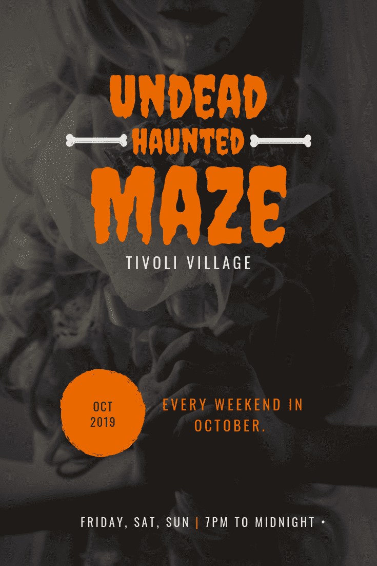 Enter at your own risk at the Undead Haunted Maze at Tivoli Village Las Vegas!! Come play- the zombies are hungry. ALL WEEKEND LONG!! Friday, Saturday, Sunday 7 to 12! Purchase Tickets in October