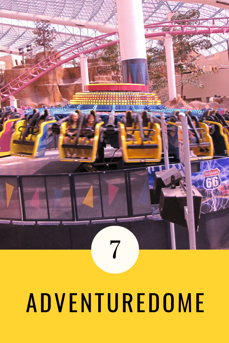 Adventuredome is the largest theme park in America. Hotelonline.com also ranks it among the top 30 indoor amusement parks in the world. Get your adrenalin rushing by engaging in activities such as rock climbing, going on 25 different types of rides and bungee jumping.