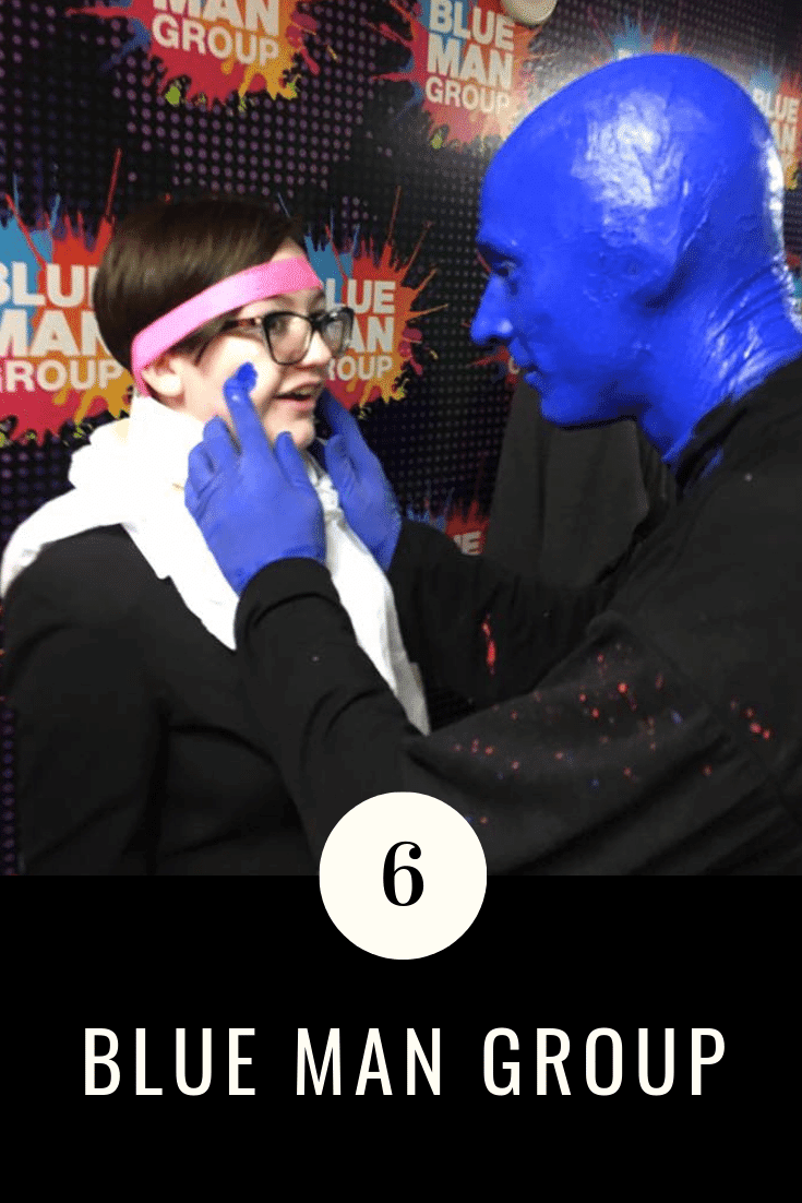 The Blue Man Group Las Vegas is an energetic and mesmerizing performance that happens twice every night at the Luxor Hotel Las Vegas. The Blue Man Group consists of three men who are covered in shiny cobalt blue paint.