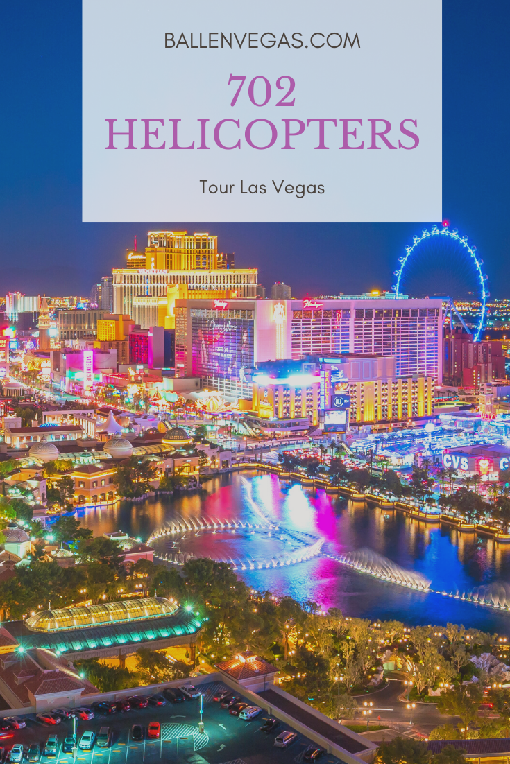 Flying high above the dazzling lights of the Las Vegas Strip, 702 Helicopters provides breathtaking tours with panoramic views of the Las Vegas cityscape. Enjoy day and night tours while the helicopters head directly toward downtown, finding perfect photo opportunities of such landmarks as Fremont Street, the Bellagio, and the Eiffel Tower at Paris Las Vegas. If you'd appreciate a longer tour, you can fly to Red Rock Canyon National Conservation Area, appreciating a sweeping view of the gnarled, crimson formations that give Red Rock its name.
