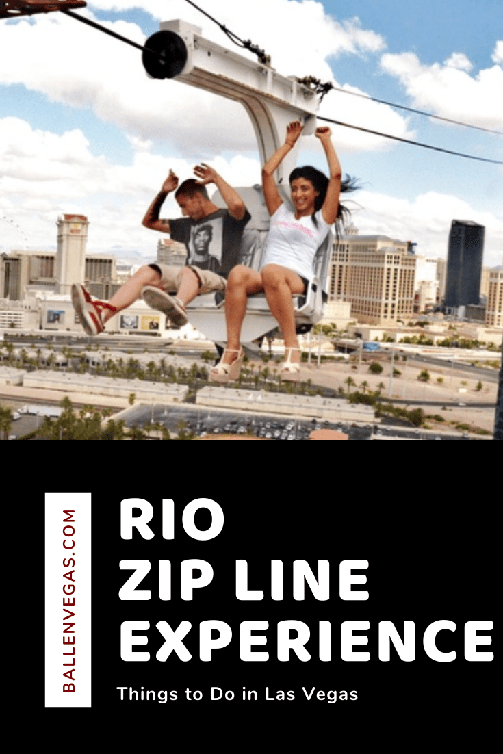 Stretched between the two Rio skyscrapers, the zipline at the Rio Las Vegas sends zip liners on a breathtaking ride as they fly above the neon playground of The Las Vegas Strip.