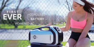 The Zero Breeze Portable air conditioner is perfect for camping or another outdoor event.