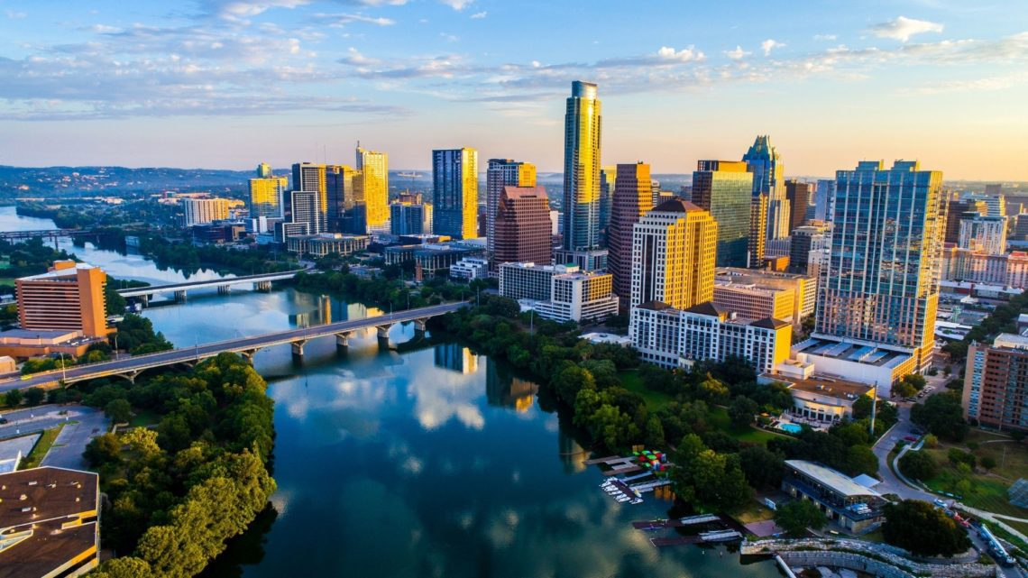 Austin, the capital of Texas, was deemed the fastest growing city in the United States in 2015 and 2016. According to the US Census Bureau, the population in Austin was around 979K. Austin is home to numerous lakes and rivers, including Lake Travis.